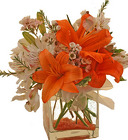 Creamsicle bouquet from The Posie Shoppe in Prineville, OR
