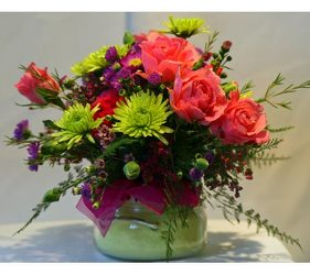 Spring Tyler Candle bouquet from The Posie Shoppe in Prineville, OR