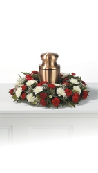 Memorial wreath for urn from The Posie Shoppe in Prineville, OR