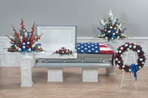 Red, white and blue sympathy collection from The Posie Shoppe in Prineville, OR
