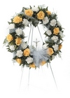 Rose and carnation wreath from The Posie Shoppe in Prineville, OR