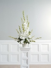 White gladiolus arrangement from The Posie Shoppe in Prineville, OR