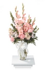 Pastel garden vased arrangement from The Posie Shoppe in Prineville, OR
