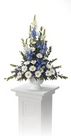 Blue and white arrangement from The Posie Shoppe in Prineville, OR