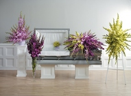 Contemporary gladiolus sympathy collection from The Posie Shoppe in Prineville, OR