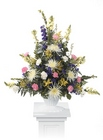 Traditional sympathy arrangement from The Posie Shoppe in Prineville, OR