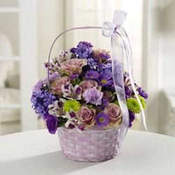 Lavender Greeting Basket from The Posie Shoppe in Prineville, OR
