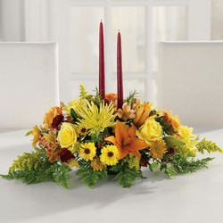 Harvest Glow Centerpiece from The Posie Shoppe in Prineville, OR