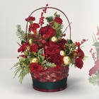 Yuletide greetings basket from The Posie Shoppe in Prineville, OR