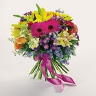 Bright presentation bouquet from The Posie Shoppe in Prineville, OR