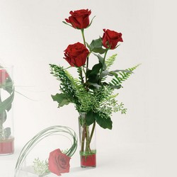 Trendy trio rose vase from The Posie Shoppe in Prineville, OR