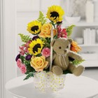 Teddy bear garden basket from The Posie Shoppe in Prineville, OR