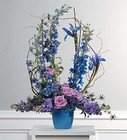 Lavender and blue bouquet from The Posie Shoppe in Prineville, OR