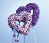 Blue and lavender double heart easel from The Posie Shoppe in Prineville, OR