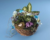 Dish garden with bird nest from The Posie Shoppe in Prineville, OR