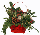 Christmas cheer basket from The Posie Shoppe in Prineville, OR